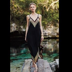 Anthropologie maxi handkerchief dress